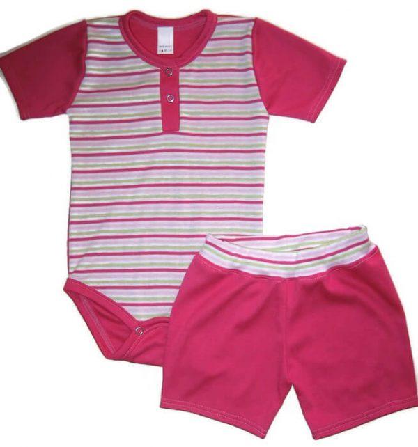 kislány ruha szettek, pink két részes szett kisbabáknak, termékkép.
