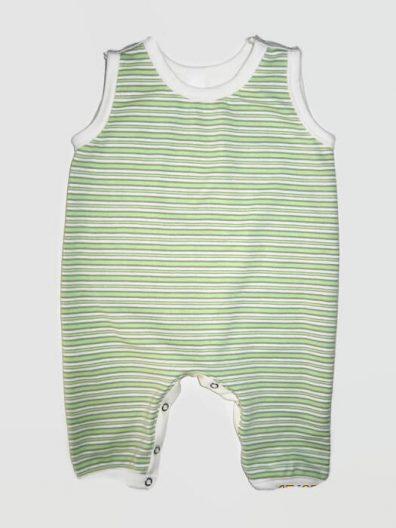 napozó, ujjatlan zöld csíkos, kisbabáknak, termékkép.