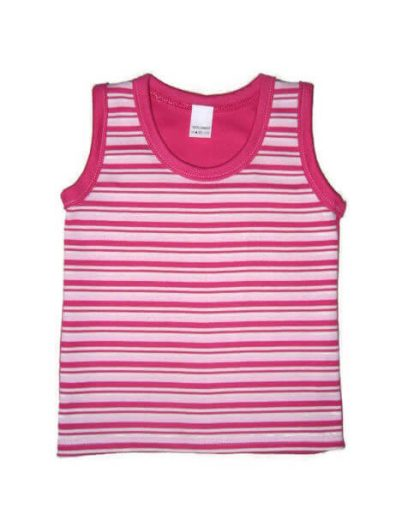 gyerek ujjatlan póló, pink csíkos lányos, termékkép.
