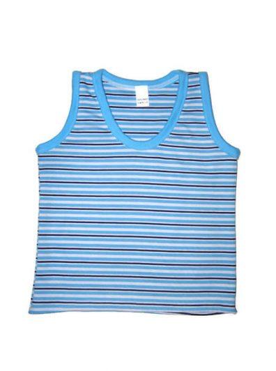 gyerek ujjatlan póló, kék csíkos fiús, termékkép.