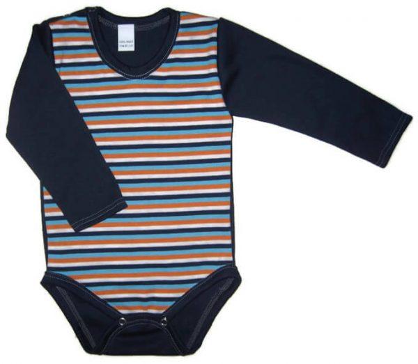 baba body, kék csíkos, kisbabáknak, termékkép.