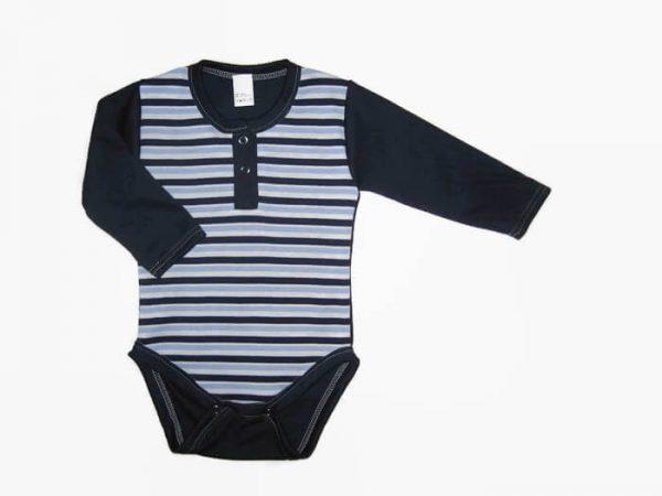 baba body, sötétkék csíkos, kisbabáknak, termékkép.
