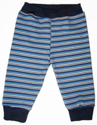 Pamut melegítő nadrág gyerek, csíkos, passzés nadrág, kisgyerekeknek, termékkép.