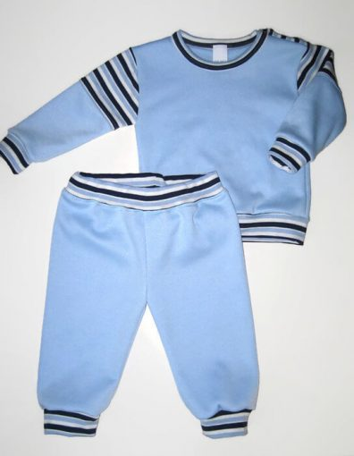 Baba pizsama, világoskék, kisgyerekeknek, termékkép.