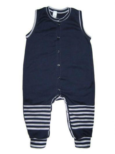 kezeslábas pizsama, sötétkék, kisbabáknak, termékkép.