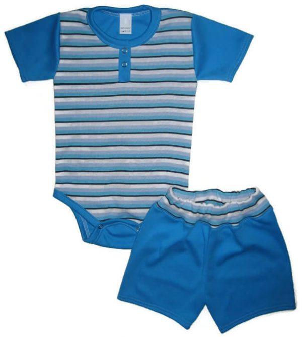 kisfiú szett, két részes kék színű, termékkép.