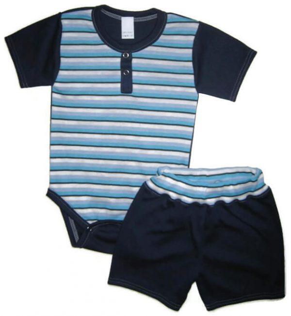 kisfiú szett, két részes kék szett, termékkép.