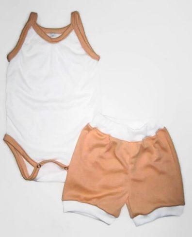 kislány ruha szettek, két részes barack színű termékkép.