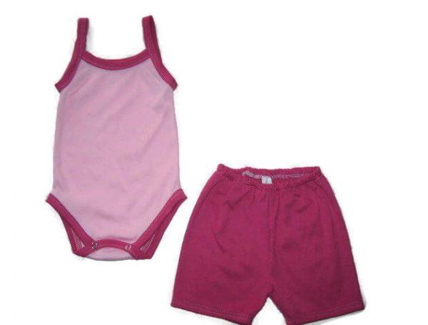 kislány ruha szettek, két részes babarózsaszín termékkép.