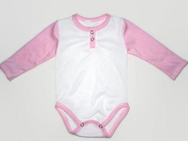 baba body, lányoknak, hosszú ujjú, fehér színű, termékkép.