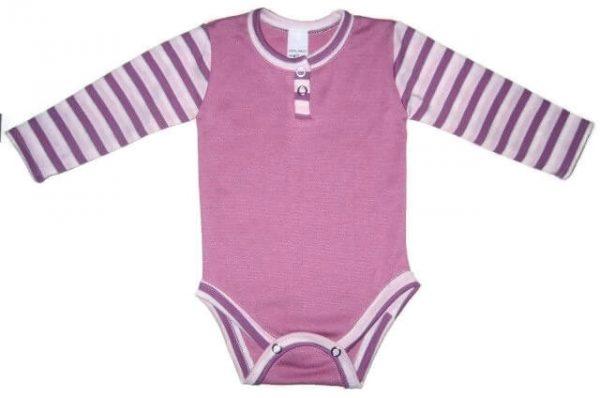 baba body, lila színű, hosszú ujjú, lányoknak, termékkép.