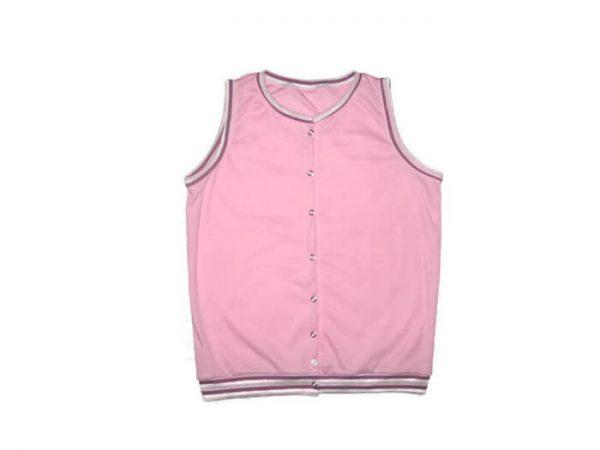 baba mellény, kislányoknak, rózsaszín színű, termékkép.