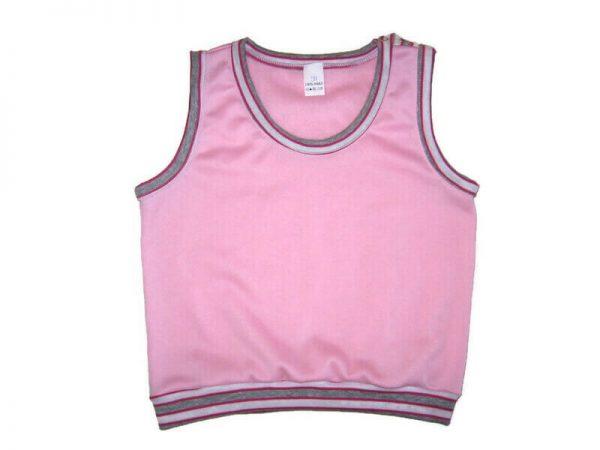 baba mellény, rózsaszín színű, kerek nyakú, lány, termékkép.