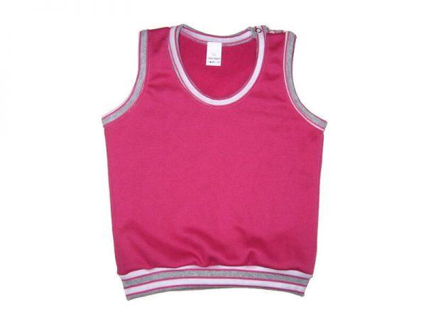 baba mellény, pink, lányos, termékkép.