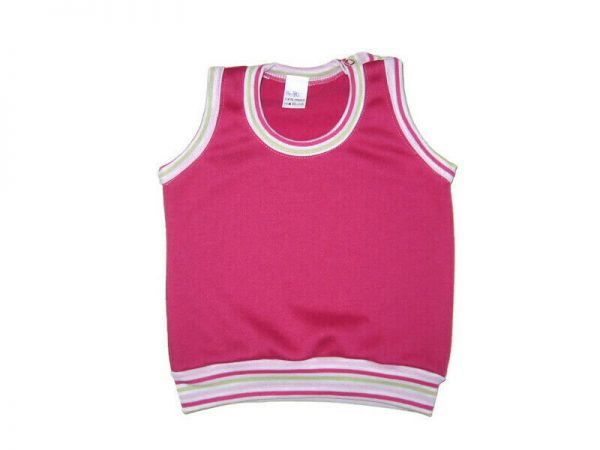 baba mellény, pink, lányoknak, termékkép.