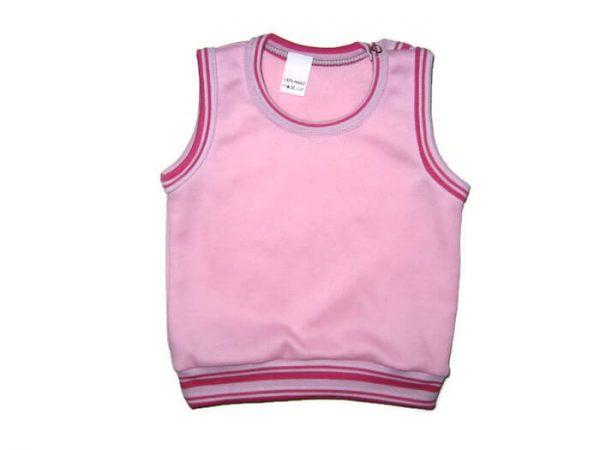 pamut baba mellény, lányos, rózsaszín színű, kislányoknak, termékkép.