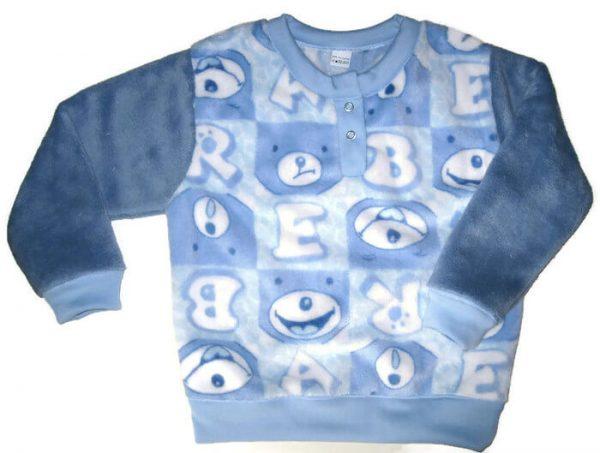 hosszú ujjú pulcsi, macis mintával, wellsoft, fiú, termékkép.