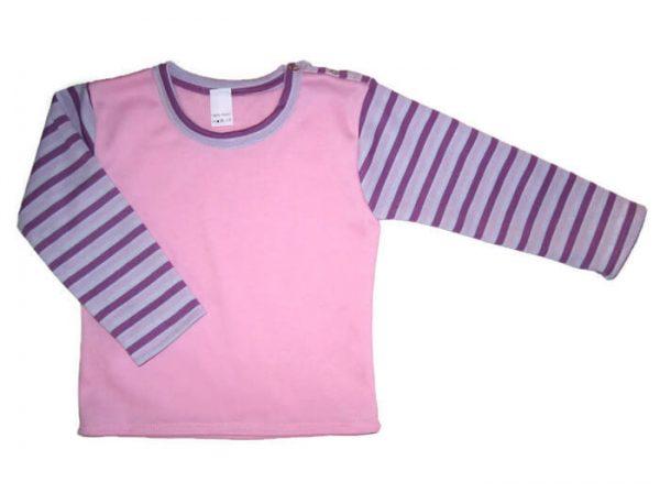 Kislány pulcsi, babarózsaszín színű, hosszú ujjú, termékkép.