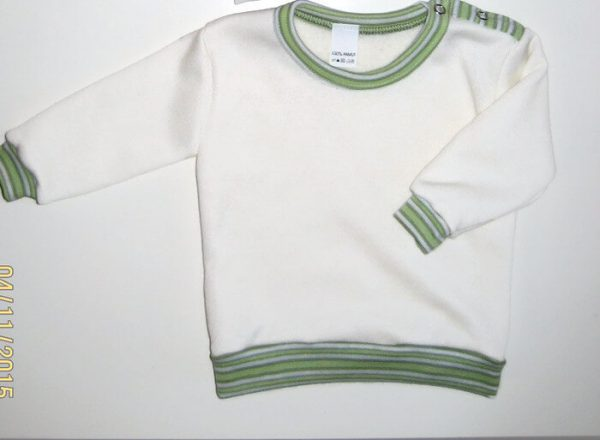 baba pulcsi, vajszínű, uniszex, kisbabáknak, termékkép.