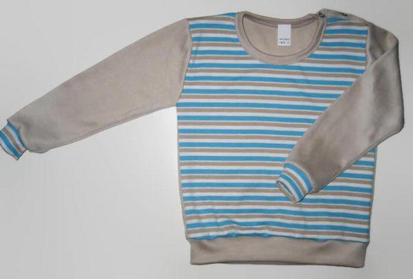 hosszú ujjú pulcsi, fiú, vállnál patentos, kisfiúknak, termékkép