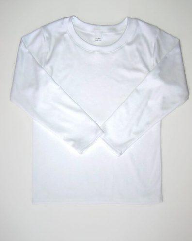 baba pulcsi, fehér színű, hosszú ujjú, kisgyerekeknek, termékkép.