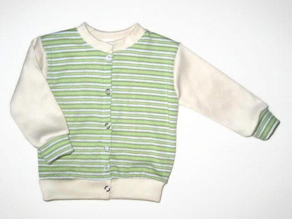 baba kardigán, uniszex színű, kerek nyakú, kisbabáknak, termékkép.