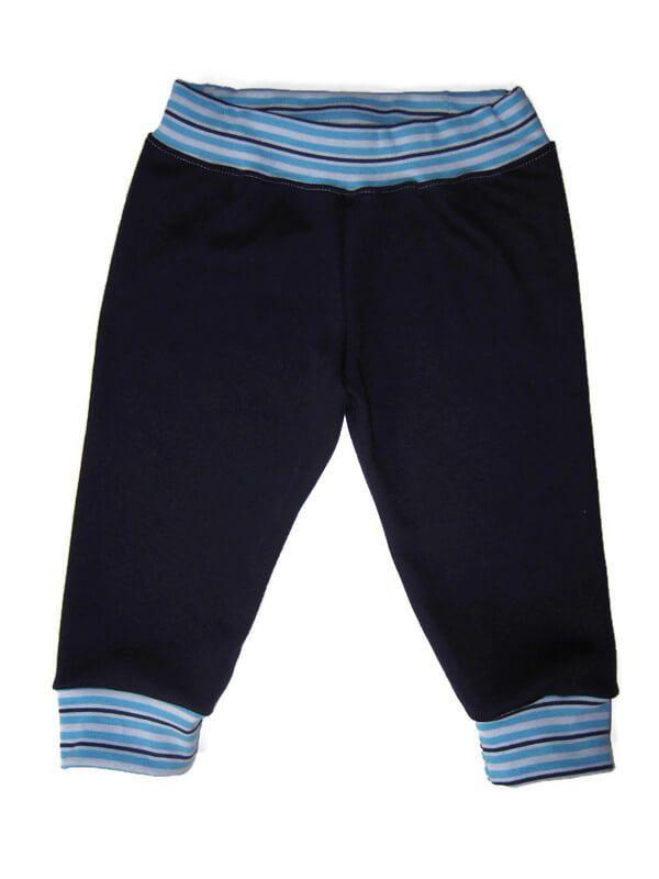 baba nadrág, sötétkék színű, passzés nadrág, fiús, termékkép.