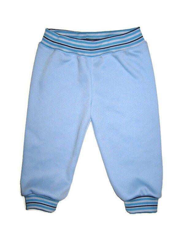 baba nadrág, kék színű passzés nadrág, kisbabáknak, termékkép.