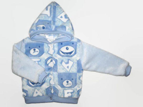baba kardigán, kék macis, wellsoft anyagú, kisbabáknak, termékkép.
