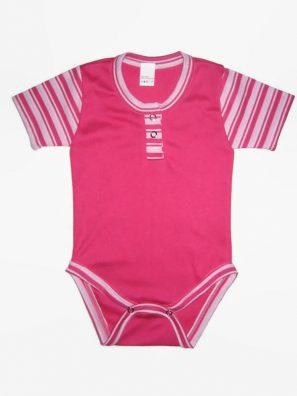 pink színű baba body, rövid ujjú fazon, termékkép.
