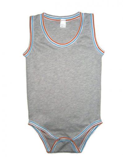 baba body, szürke színű, ujjatlan, termékkép.