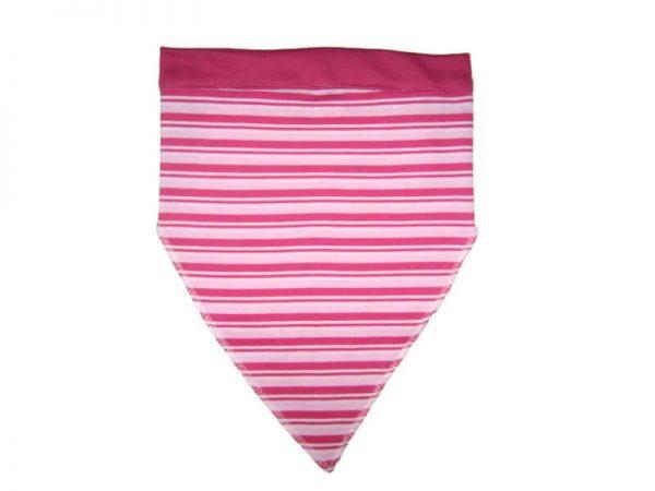 baba fejkendő, rózsaszín csíkos,termékkép.