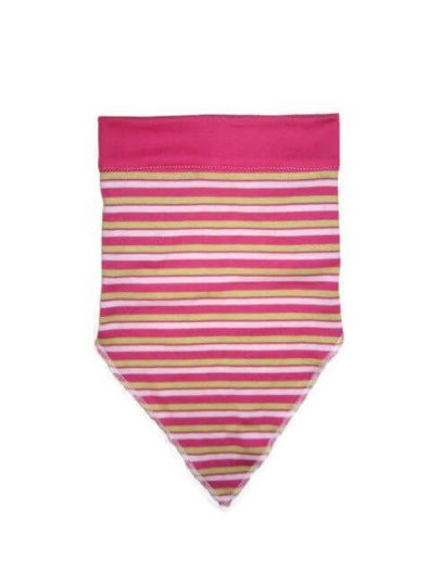 baba fejkendő, pink csíkos, termékkép.