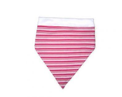 baba fejkendő, rózsaszín csíkos, termékkép.