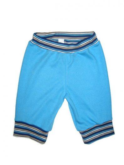 fiú pamut halász nadrág, türkizkék színű, térdig érő fazon, termékkép.