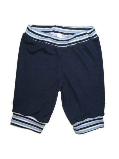 fiú pamut halász nadrág, sötétkék színű, csíkos derékkal, térdig érő fazon, termékkép.