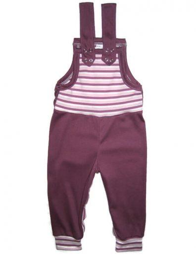 baba kertésznadrág, lányos, hosszú, lila, lila csíkkal variálva, termékkép.