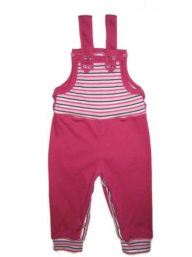 baba kertésznadrág, lányoknak, pink színű, pink csíkossal variálva, hosszú fazonú, termékkép.
