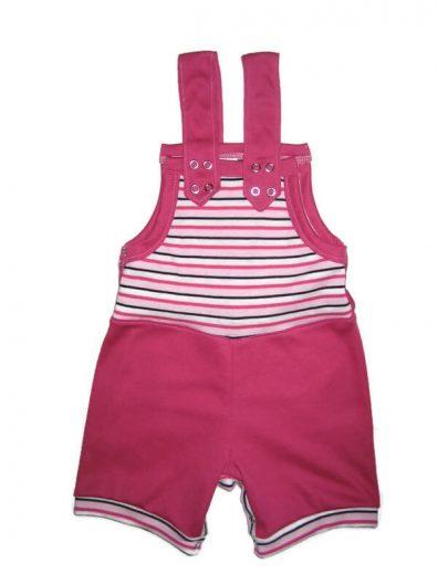 baba kertész nadrág, nyári fazon, pink színű rövid kertész naci, termékkép.