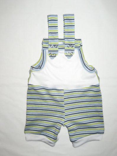 baba kertésznadrág, fiús, rövid fazonú, fehér, kék csíkos színnel variálva, termékkép.