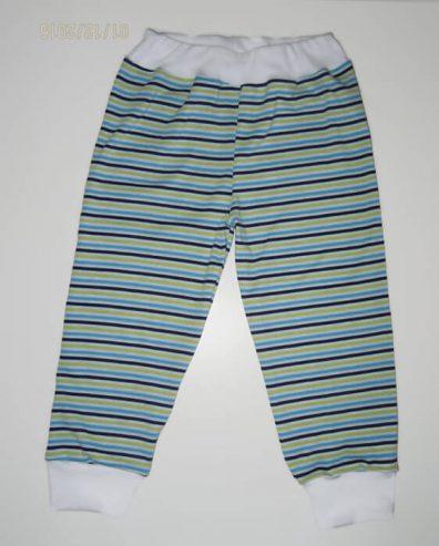 baba nadrág, kiwi csíkos, uniszex színű, termékkép.