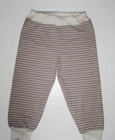 baba nadrág, drapp csíkos, fiús, termékkép.